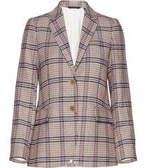 d1. washable str wool reg blazer blazer kavaj multi/mönstrad gant