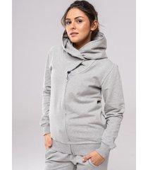 bluza big hoodie zip basic