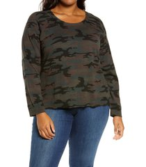 plus size women's sanctuary spot on pullover, size 1x - green