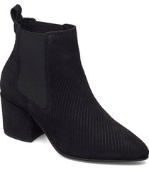 biacia suede chelsea boot wf shoes boots ankle boots ankle boot - heel svart bianco