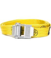 off-white mini 2.0 industrial belt silver-tone buckle fastening -