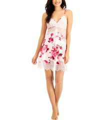inc floral-print lace chemise nightgown, created for macy's