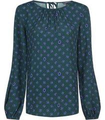 blusa verde tommy hilfiger riva blouse ls