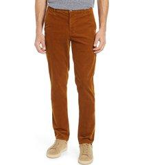 men's ag marshall slim fit corduroy pants, size 36 - brown