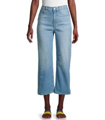 madewell women's wide-leg cropped slim-fit jeans - eastwick - size 24 (00)