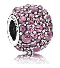 charm gotas de orvalho rosa