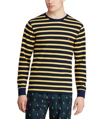 polo ralph lauren men's multi-stripe waffle pajama shirt