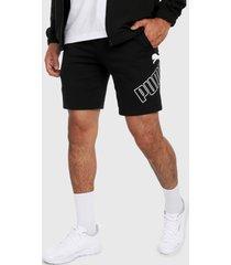 pantaloneta negro-blanco puma big logo 9