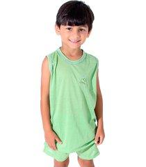 pijama linha noite regata verde claro - kanui