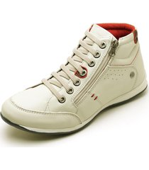 sapatenis carmelo shoes casual couro branco - kanui