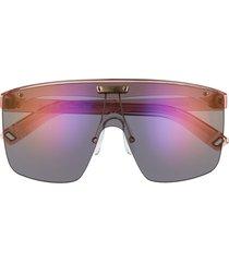 indescratchables renew 141mm shield sunglasses in quartz /violet mirror at nordstrom
