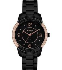 relógio euro color mix glam feminino