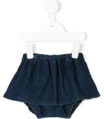 knot denim bloomer skort - blue