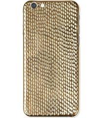 la mela women's cobra 18k yellow gold plated iphone 6/6s case - gold