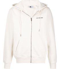 daily paper zip front hoodie - neutrals