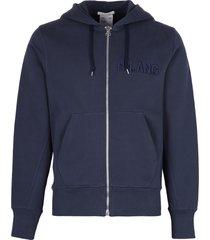 helmut lang cotton full zip hoodie