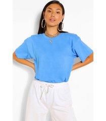 basic oversized t-shirt, azure