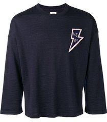 visvim loose fit sweatshirt - blue