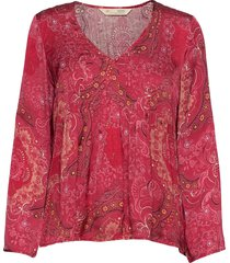 amélie blouse blouse lange mouwen rood odd molly
