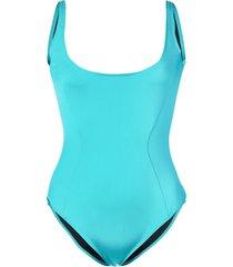 fleur du mal scoop neck swimsuit - blue