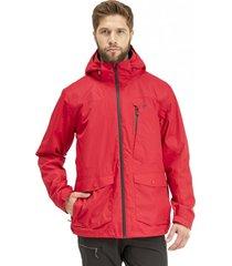 chaqueta tres cruces fusion-3 hoody rojo lippi