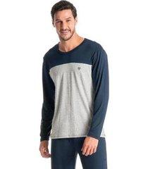 pijama longo masculino viscolycra - masculino