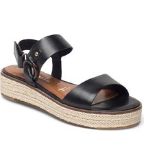 woms sandals sandaletter expadrilles låga svart tamaris