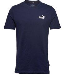 ess small logo tee t-shirts short-sleeved blå puma