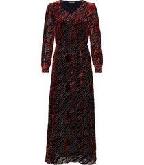 flame-ldr maxi dress galajurk rood storm & marie