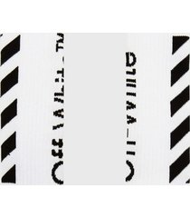 off-white white diag logo socks