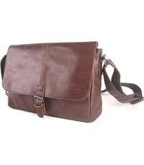 pu business vintage messenger borsa casual crossbody shoulder borsa sling borsa per gli uomini