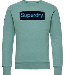 cl workwear crew sweat-shirt tröja blå superdry