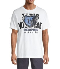 zadig & voltaire men's grizzlies cotton tee - white - size xs