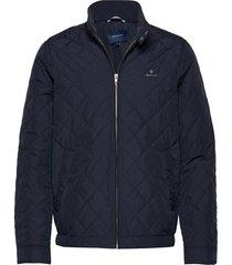 d1. the quilted windcheater doorgestikte jas blauw gant