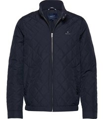 d1. the quilted windcheater doorgestikte jas blauw gant