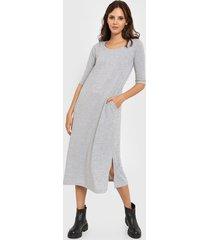 vestido gris chelsea market aleli largo