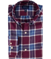 gant blouse bordeaux blauw geruit regular fit