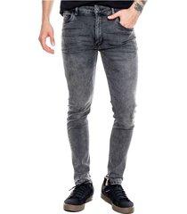 pantalón black denim skinny color blue