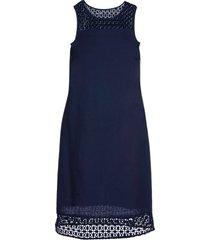 abito in misto lino (blu) - bodyflirt
