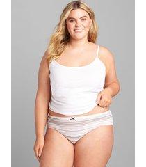lane bryant women's cotton hipster panty 26/28 soft parisian stripes