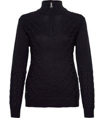 alondra ls pullover unlined stickad tröja svart daily sports