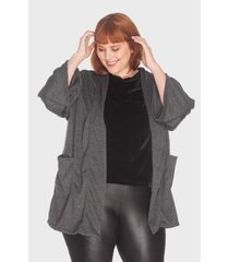 kimono com bolsos tricô plus size bold feminino