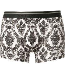 dolce & gabbana underwear baroque print boxers - black