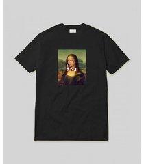 t-shirt mona lisa koszulka czarna