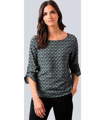blouse alba moda salie::zwart