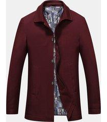 mens plus size casual solid colour stand collar fodera per giacca cucita fodera floreale