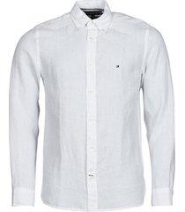 overhemd lange mouw tommy hilfiger pigment dyed linen shirt