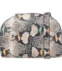 a.p.c. demi lune shoulder bag in multicolor leather