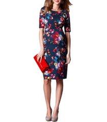 women's tiffany rose anna maternity shift dress, size 6 (fits like 14-16 us) - blue