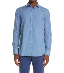 canali micro medallion dress shirt, size 15 in blue at nordstrom